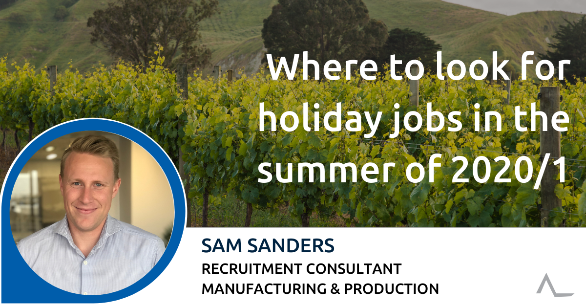 Where to look for holiday jobs in the summer of 2020/1